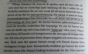 """s. 62 i boken Asperger och stress. Inte bara Anna"""" och är skriven av Elisabet von Zeipel i samarbete med  Kerstin Alm."""